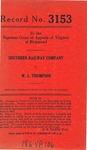 Southern Railway Company v. W. L. Thompson