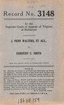 J. Penn Walters, et al., v. Dorothy C. Smith