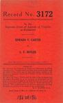 Edward V. Carter v. S. V. Butler