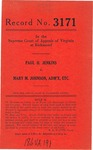 Paul H. Jenkins v. Mary M. Johnson, Administratrix, etc.