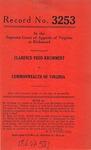 Clarence Fred Krummert v. Commonwealth of Virginia