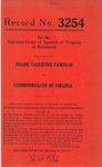 Frank Valentine Famular v. Commonwealth of Virginia