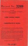 Albert Woodley Perkins v. Commonwealth of Virginia