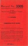 T. J. Richards v. Commonwealth of Virginia