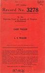 Casey Waller v. L. E. Waller