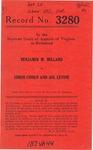 Benjamin M. Millard v. Simon Cohen and Sol Levine