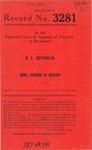 R. L. Reynolds v. Mrs. Jimmie O. Dixon