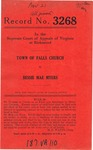 Town of Falls Church v. Bessie Mae Myers