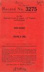 John Marks v. Frank D. Ore