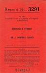 Hortense B. Corbett v. Dr. J. Campbell Clarke