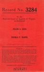 Frank L. Doss v. Thomas F. Rader