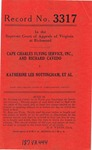 Cape Charles Flying Service, Inc., etal. v. Katherine Lee Nottingham, etc.
