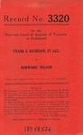 Frank S. Richeson, et al., v. Norwood Wilson