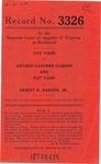 Foy Vann v. Arthur Gardner Harden; and Foy Vann v. Ernest R. Harden, Jr.