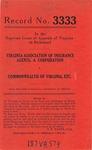 Virginia Association of Insurance Agents, A Corporation v. Commonwealth of Virginia, ex rel., Virginia Insurance Rating Bureau, et al.