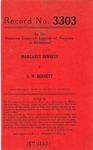 Margaret Bennett v. S. W. Bennett