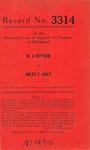 W. A. Horner v. Miles T. Holt