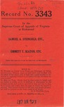 Samuel A. Steingold, etc., v. Emmett T. Seaton, etc.