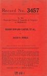 Bishop Edward Carter, et al., v. Jacob B. Hinkle