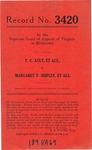 F. C. Ault, et al., v. Margaret V. Shipley, et al.