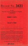Robert F. Davis v. Edgar W. Webb