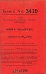 Pauline W. Hall, Administratrix, etc., v. George W. Payne, Administrator, etc.