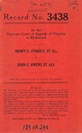 Henry E. Stokely, et al. v. John C. Owens, et al.