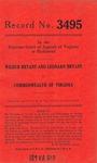 Wilbur Bryant and Leonard Bryant v. Commonwealth of Virginia