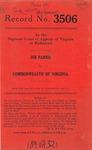 Joe Parris v. Commonwealth of Virginia