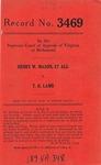 Henry W. Mason, et al. v. T. R. Lamb