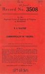 R. E. Waltrip v. Commonwealth of Virginia