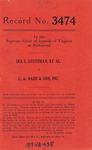 Ira E. Stutzman, et al. v. C. A. Nash & Son, Incorporated