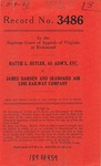 Hattie L. Butler, Administratrix, etc. v. James Darden and Seaboard Air Line Railway Company