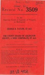 George R. Taylor, et al. v. The County Board of Arlington County, A Body Corporate, et al.