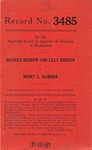 Maurice Berkow and Lilly Berkow v. Henry L. Hammer
