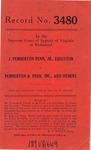 J. Pemberton Penn, Jr., Executor v. Pemberton & Penn, Inc., and Others