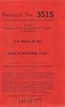 E. H. Welles, et al. v. Edgar W. Revercomb, et al.