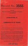 Jacob Hevener, Jr., v. Commonwealth of Virginia