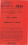 Henry A. Menefee v. Commonwealth of Virginia