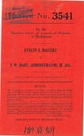 Evelyn E. Masters v. T. W. Hart, Administrator, etc., et al.