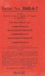 T. H. Williams. et al. v. Commonwealth of Virginia and Travis Deleon Triplette v. Commonwealth of Virginia
