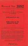 State Realty Company, Inc. v. Henry Wood, Jr., and Berenice W. Wood
