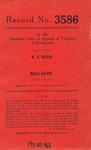 W. F. Davis v. Rosa Davis