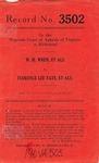 W. H. Wren, et al. v. Florence Lee Tate, et al.