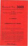 C. B. Bridges v. Commonwealth of Virginia