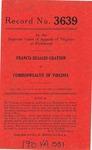 Francis DeSales Grayson v. Commonwealth of Virginia