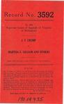 J. T. Crump v. Martha E. Gilliam, et al.
