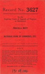 Priscilla Mott v. National Bank of Commerce, etc.