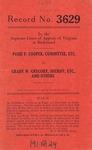 Posie F. Cooper, Committee, etc. v. Grady W. Gregory, Sheriff, etc., et al