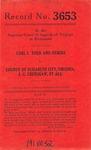 Carl L. Todd, et al. v. County of Elizabeth City, et al.